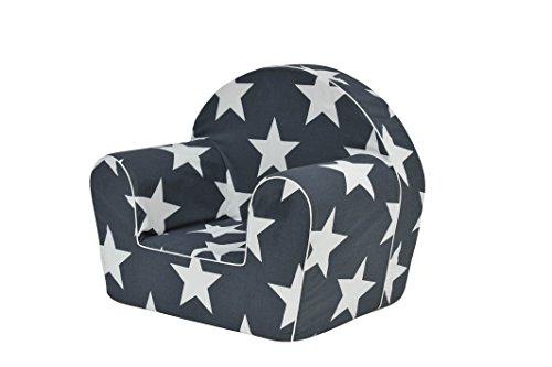 MoMika bambini Sedia | poltrona | Divano Sedile | Sgabello per bambini - Toddlers - Bambini sede sofà | 0-4 anni | (White-Star)