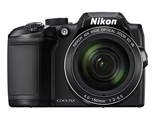 Nikon Coolpix B500 Fotocamera Digitale Compatta, 16 Megapixel, Zoom 40X, VR, LCD Inclinabile 3', FULL HD, Bluetooth, Wi-Fi, Nero