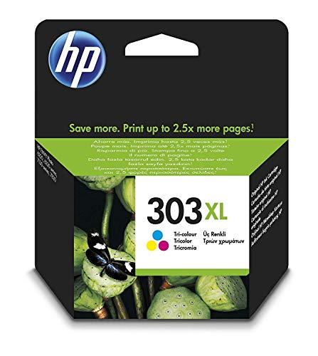 HP 303 XL Tricromia T6N03AE Cartuccia Originale per Stampanti HP a Getto d'Inchiostro, Compatibile...