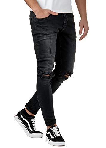 EightyFive Herren Destroyed Jeans Slim Fit Skinny Stretch Denim...
