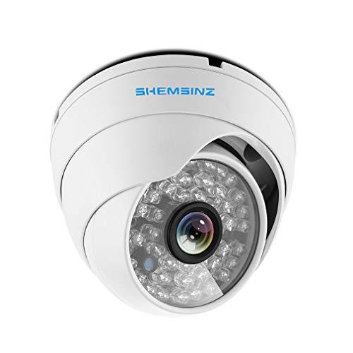 SHEMSINZ 1/3'Obiettivo 3,6mm Alta risoluzione AHD/TVI / CVI 2.0MP 1080P Telecamera di sicurezza CCTV per interni/esterni Bullet, visione notturna diurna, costruita con supporto per cavo OSD