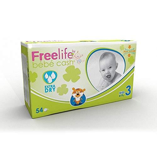 Freelife Bebe Cash Midi (4-9KG) Pannolini - Confezione da 54