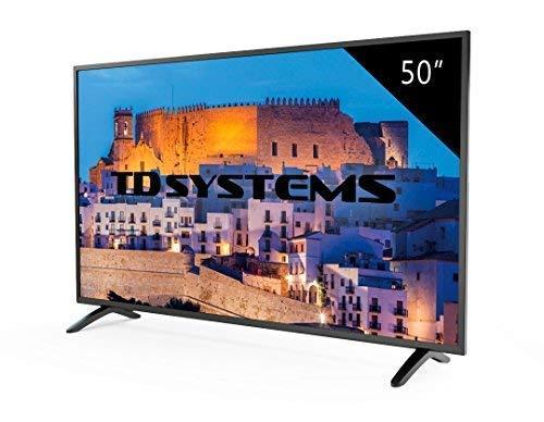 TD Systems K50DLM8F - Televisore Led 50 Pollici Full HD, risoluzione 1920 x 1080, 3x HDMI, VGA, USB...