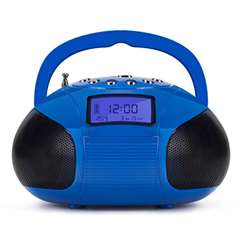 August SE20 Radio portatile con altoparlante Bluetooth, Blu