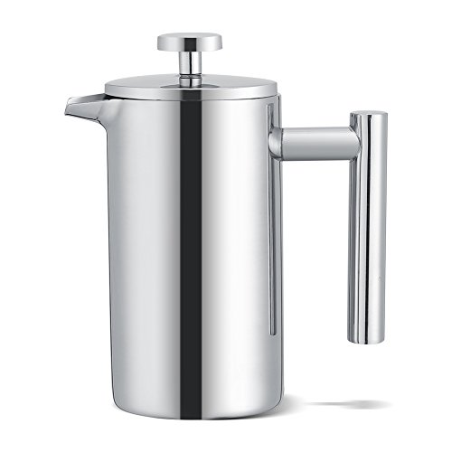 Stainless Steel Coffee Maker French Press Tea Makers Double Wall French Coffee or Tea Pot with Filter 350ML