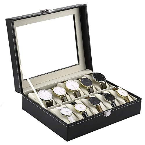 Styleys Wrist Watch Organizer Case Kit with 10 Piece Slots (Black)