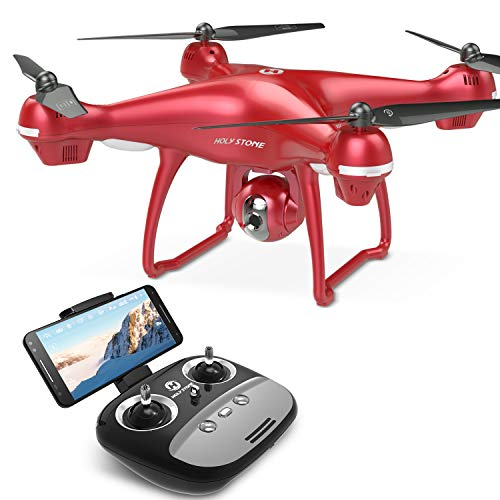 Holy Stone HS100R Drohne mit Kamera HD, RC GPS Quadrocopter, Helikopter Ferngesteuert mit FPV 1080P Kamera, GPS Navigation, Live-Video usw, Drohne Outdoor für Kinder, Erwachsene und Anfänger