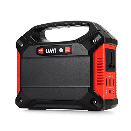 TOPQSC Generador portátil Inversor de energía 42000mAh 155Wh Paquete de batería Recargable Fuente de alimentación de Emergencia, 220V Salida de AC 3 Puerto de DC 12V USB