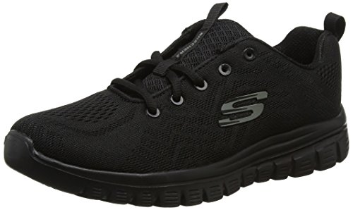 Skechers Graceful-Get Connected, Zapatillas para Mujer, Negro, 40 EU