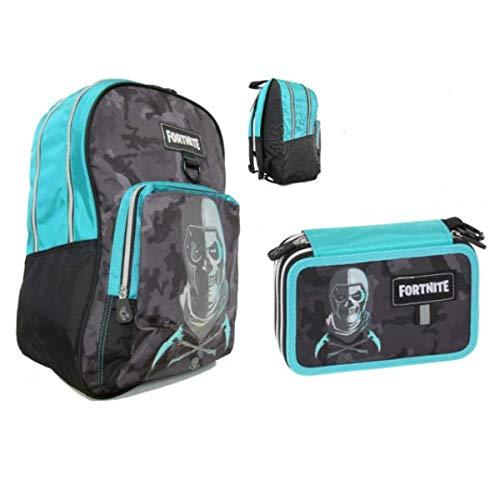 Zaino Fortnite School Pack Azzurro Scuola 2020 Con Astuccio Completo