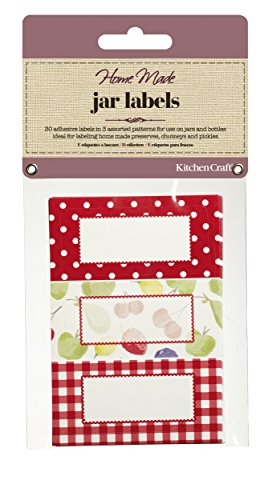 Kitchen Craft Home Made Etichette Adesive per Barattoli di Marmellata in Vetro, Multicolore