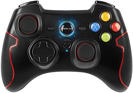 Speedlink TORID Gamepad Wireless - Gaming Controller Kabellos (8m Reichweite - bis zu 10h Spielzeit - Turbofeuerfunktion) inkl. USB Ladekabel für Gaming/PC/Notebook/Laptop/PS3/PS4/Konsole, schwarz