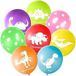 """FEPITO 16PCS 12 """"Dinosaurios Globos de látex para Fuentes de Dinosaurios y Decoraciones de Fiesta de Dinosaurios"""