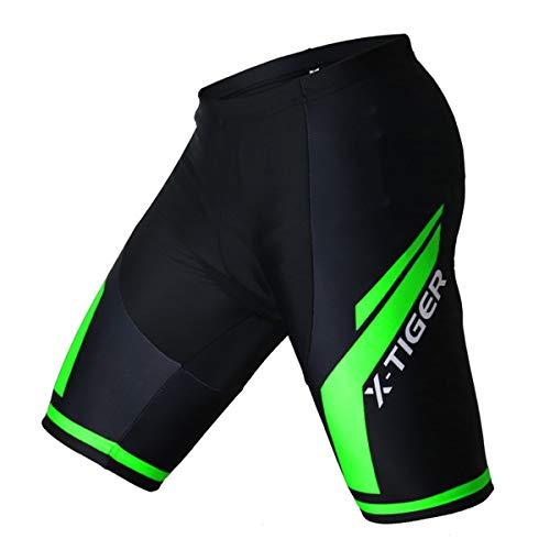 X-TIGER da Ciclismo Uomo 5D Gel Salopette Pantaloncini Corti Imbottiti Set di Abbigliamento Ciclista...