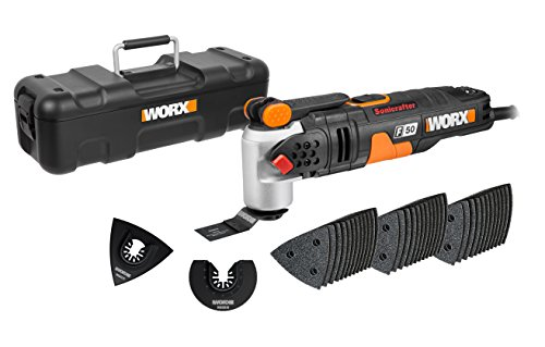 WORX WX681 F50 450W Sonicrafter Multi-Tool Oscillating Tool with 40 Accessories