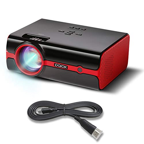 Proiettore Paick Video Beamer 2500 Lumen HD 1080P LED proiettore 180 pollici display multimediale...