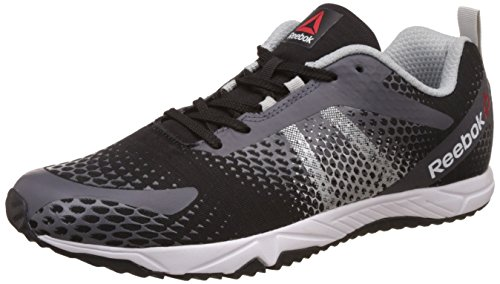 Reebok Men's Blaze Run 1.0 Black, Ash Grey, Metallic Silver and White Running Shoes - 9 UK/India (43 EU) (10 US)