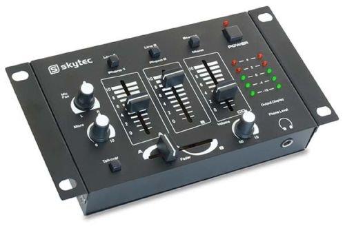 Mesa de mezclas DJ Mixer Stereo 4canales 3canales mono 2canales Stereo + Micro