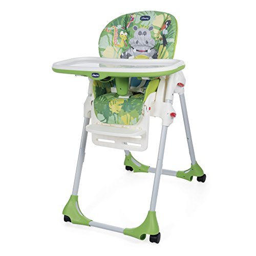 Chicco 06079565640000 Polly Easy Seggiolone, Happy Jungle