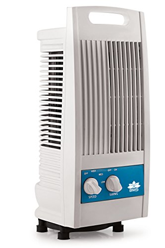 BMS Lifestyle TF-102 Portable Mini Oscillating Tower Fan With 90 Degree Rotating & Revolving Base ( White )