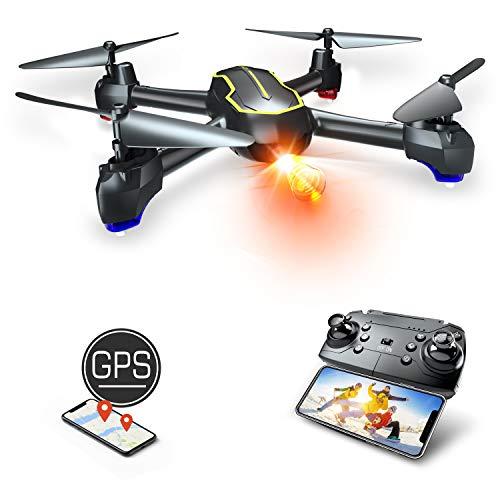 Asbww   Drone GPS con Telecamera Full HD 1080p per Bambini e Principianti di Droni - Quadricotteri RC Drone FPV con GPS Funzione di RTH / 16 Minuti di Volo / Funzione Seguimi