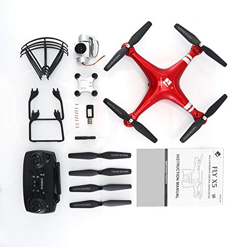 Drone X52 RC FPV con videocamera HD 720P WiFi Altitude Hold RC Airplane Helicopter Red