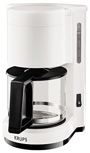 Krups F1830110 Cafetière Aroma 6 Tasses Blanc/Noir 24,6 x 19,40 x 27,8 cm