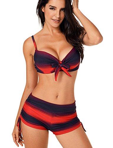 dfc37a4b029d6d KamiraCoco Bikini Set Damen, Sprotlich Bandeau Bademode Bikini ...