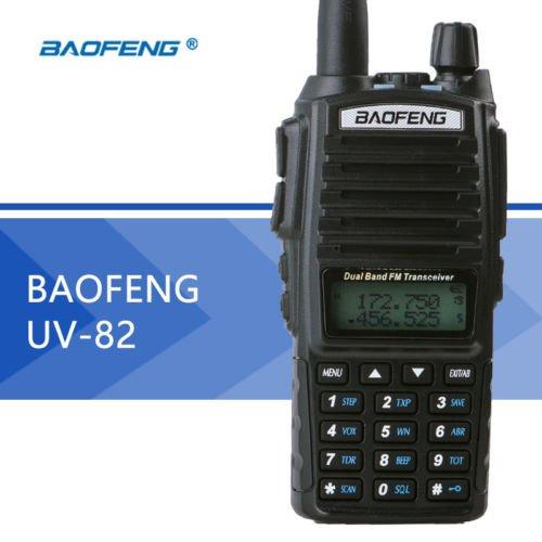 EDTara UV-82 Dual Band Two-Way Radio Transceiver 136-174MHz VHF & 400-520MHz UHF(Black)