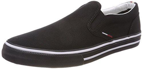 Hilfiger Denim Herren Tommy Jeans Textile Slip On Sneaker Schwarz (Black 990) 42 EU