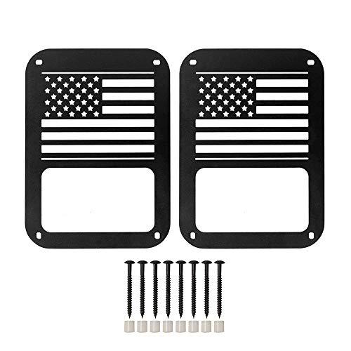 KKmoon Coppia Posteriore Coda plafoniera Bandiera Americano Lampada Guardie Coda Protezione di...