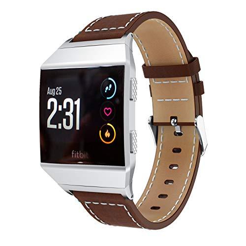 Compatibile con Fitbit Ionic Cinturino Chainfo in vera pelle per Fitbit Ionic (Caffè)
