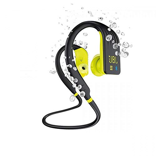 JBL Endurance Dive - Auriculares Inalámbricos Deportivos In Ear con MP3 (1GB) - Resistente al agua - Activación inmediata on y off según se insertan o no al oído - Color Negro, Amarillo