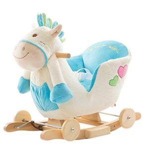 Bebé del Caballo de oscilación Kid Ride On ToyRiding Caballo por 1-3 años de pie Paseo en Caballo del Juguete para niños…
