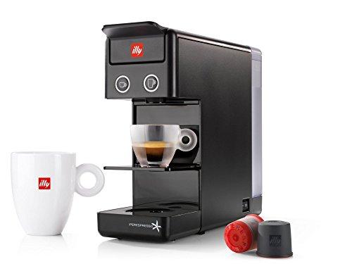 Macchina da caffè a capsule ILLY modello Y3.2 Iperespresso colore Nero, macchinetta caffè illy iperespresso Y3.2, macchinetta capsule ideale sia per caffè espresso che per caffè all'americana