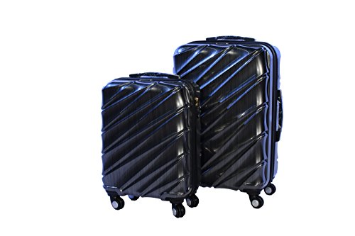 Shaik 7203024 Trolley Koffer, 2er Set (M, L), schwarz