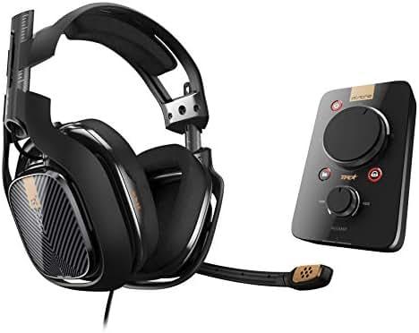ASTRO Gaming A40 TR Headset (kabelgebunden) + MixAmp Pro TR Adapter mit Dolby 7.1 Surround Sound (kompatibel mit PlayStation 4, PC, Mac) schwarz