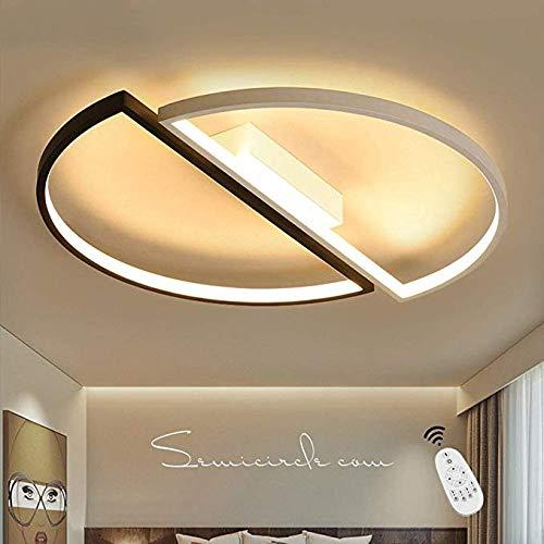 LED Deckenleuchte I CBJKTX Deckenlampe Ø55cm 52W dimmbar mit Fernbedienung Wohnzimmerlampe Eisen Kronleuchte Kinderzimmer Lampe Esszimmerlampe Schlafzimmerlampe Badezimmerlampe Flurlampe (B-s&w-Φ55cm)