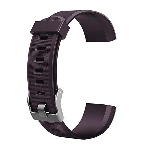 YouN Braccialetto da Polso Wristband Watchband Accessori di Ricambio per ID115/ID115HR/ID115LITE Smart Watch, Nero, 180.00 * 100.00 * 20.00