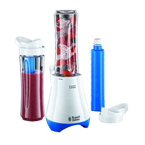 Russell Hobbs Mix and Go Cool Personal Blender 21351, 600 ml, 300 W - White and Blue