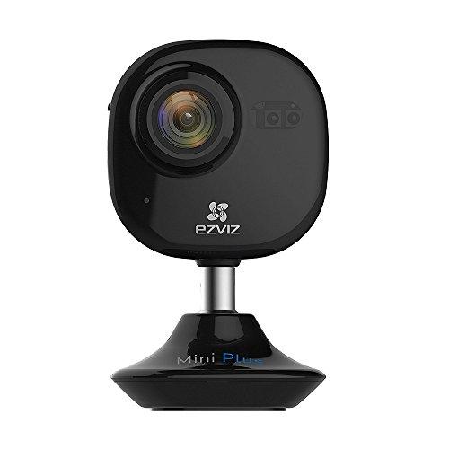 EZVIZ A0-52WFR Mini Plus FHD WLAN Telecamera di Sicurezza, 2.4 GHz e 5Ghz Wi-Fi Interni, Audio Bidirezionale, Baby Monitor, Visione Notturna, Compatibile con Alexa, Nero, 1080p