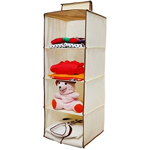Homecute Hanging Storage Wardrobe/Closet Storage Organizer 4 Layer