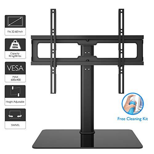 1home Supporto da tavolo per TV da 32'-60' LCD/LED/al plasma girevole regolabile in altezza