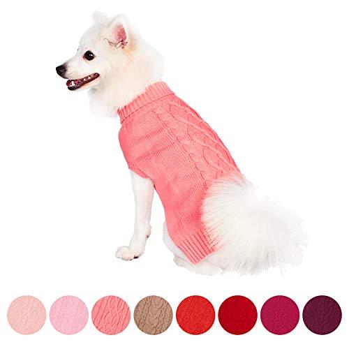 """Blueberry Pet 12\""""/30cm Rückenlänge Der Klassische Zopfpullover Rosa Hundepullover Hundemode Sweatshirt für Hunde"""