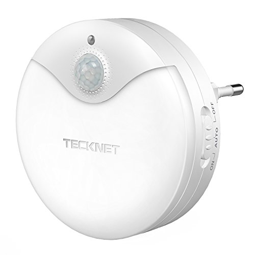 TeckNet Luce Notturna da Presa, LED Luce Notte Bambini con Sensore Automatico a Risparmio...