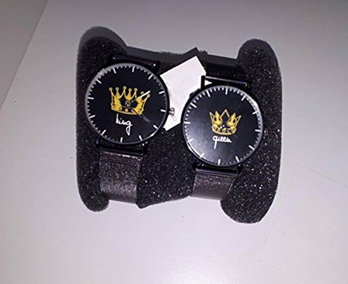 Coppia Di Orologi You And Me King & Queen Infinity Love (cinturino nero)