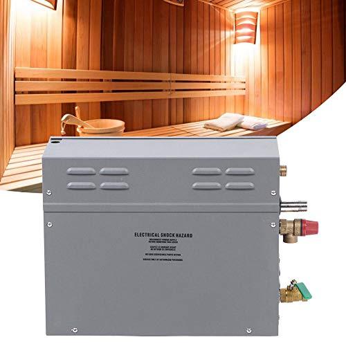 Generador de vapor eléctrico para sauna de 6KW, kit generador de ducha de vapor de 6KW, panel de visualización de tiempo de temperatura de control táctil TM60 para sauna de baño SPA(eu / 220v)