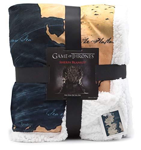 Game Of Thrones Regali Merchandise GOT Coperta Super Morbida Coperta Letto Mappa Di Westeros, Coperta   Game Of Thrones Morbida Coperta In Pile Sherpa