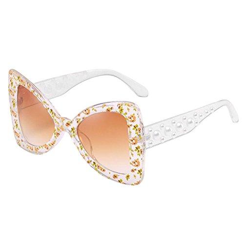 Hzjundasi Unique Ojo de gato Mariposa Conformado Oversized Retro Gafas de sol Marco grande Estiloso UV Proteccion Los anteojos Polarizado Salirse los ojos Gafas