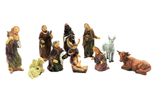 Unbekannt Set di 11 Personaggi presepe Fino a 7 cm